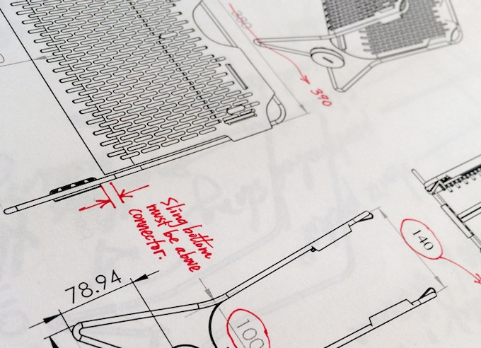 Tuck Device Rack working sketches. Design is in the details!