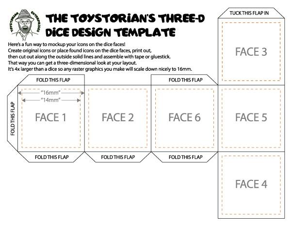 Unpainted Custom Dice by Toystorian Enterprises » A D6 Mock