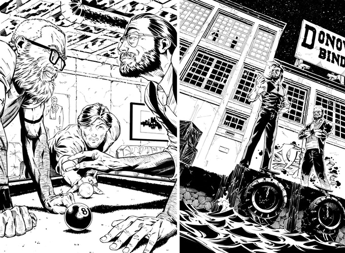 A hint of things to come in White Knuckle Birthday: The Graphic Novel