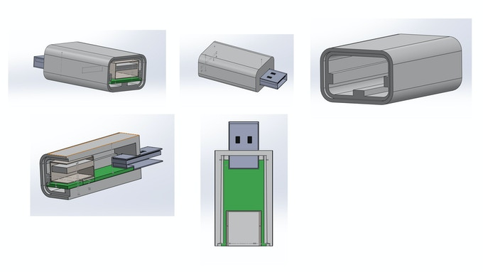 We designed our case in SolidWorks design software with other tools like 123Design and Makerbot helping out.