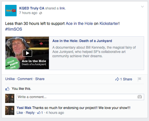 KQED's Truly CA mentions us on Facebook