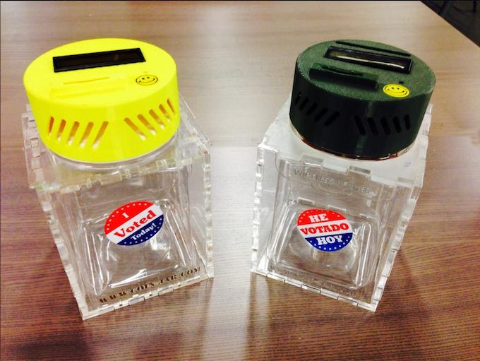 Coin-Jar Prototypes in security enclosure