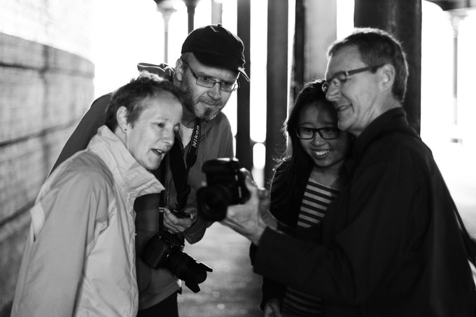 Pete leading a street photography workshop.