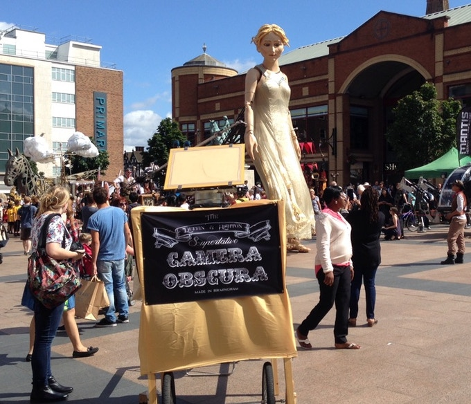 Lady Godiva checks out the camera in Coventry.