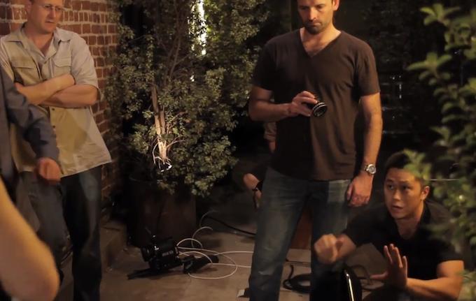 David Crabtree (Director), Matthew Boyd (Director of Photography) and Sunny Sun on SMACK Unit set.