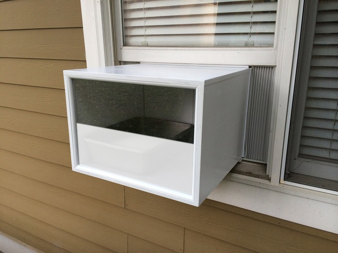 PROTOTYPE: Katio installed exterior view with Privacy Panel