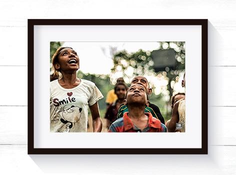 Tribe Photo Framed Image