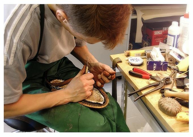 Orthopedic shoemaker Kenneth Elsgaard is working on of many prototypes.