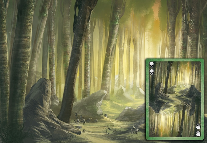 Forest Themed Deck - Deep Forest Card