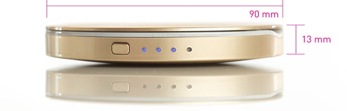 Pearl Compact Mirror Usb Rechargeable Battery Pack By