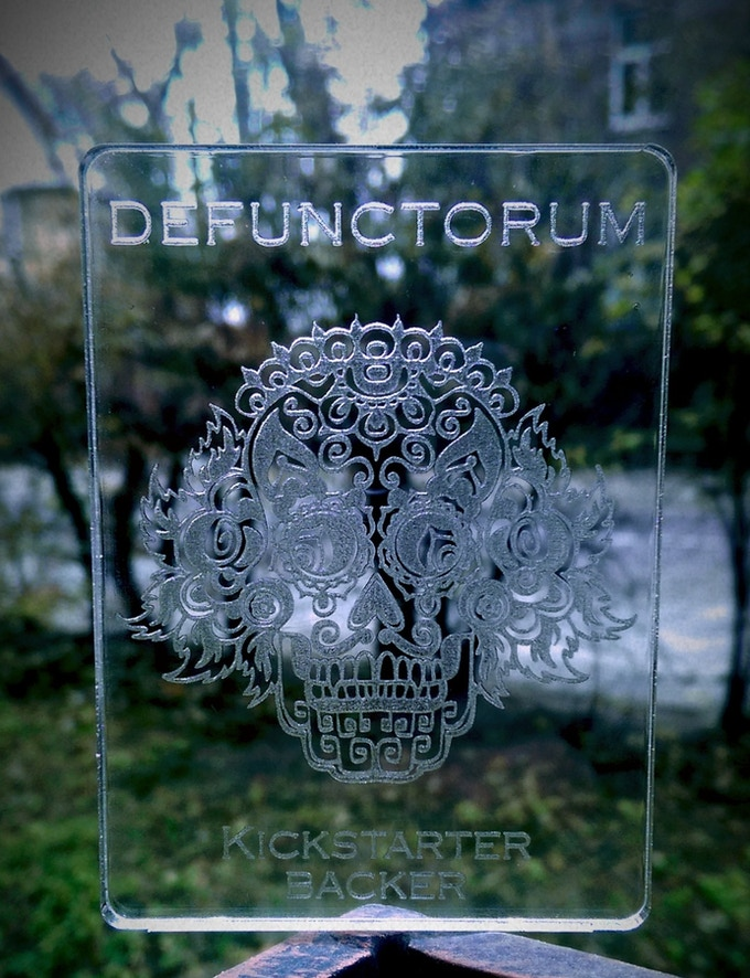 Acrylic Engraved Plate (Poker size)