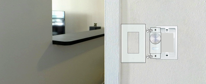 Installs in a standard switch box like an ordinary light switch