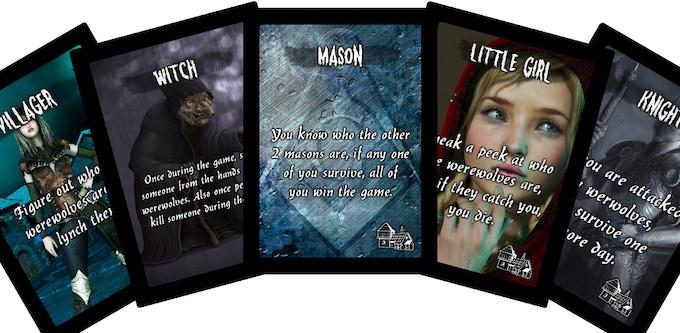 5 Cards from The Village: Werewolf