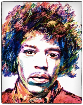 Jimi Hendrix Watercolor By Jane Roberts