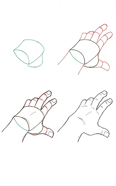 How to draw Hands. 40 drawing tutorials. by Sébastien