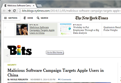 """Screenshot from """"WireLurker"""" article at the New York Times"""