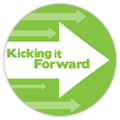 "Proud to be ""Kicking It Forward!"" - 5% of our profits will go toward supporting other projects on Kickstarter."