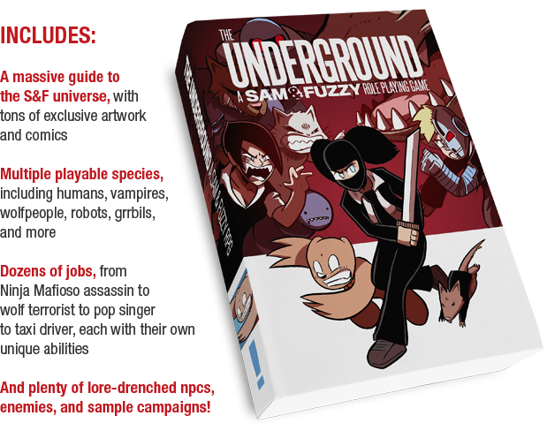 The Underground: A Sam & Fuzzy RPG by Damocles Thread Development —Kickstarter