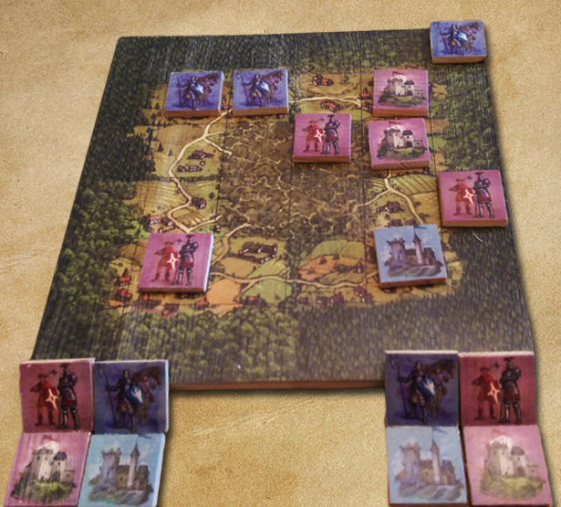 Play like the a King with this wood-printed version of Micro Play-Break: Kingdoms