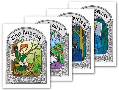 The mini-print cards.