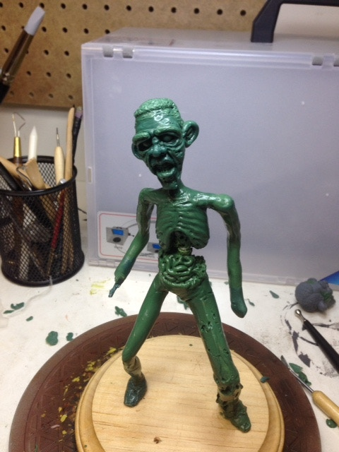 Halfway through the sculpting stage for Zombama