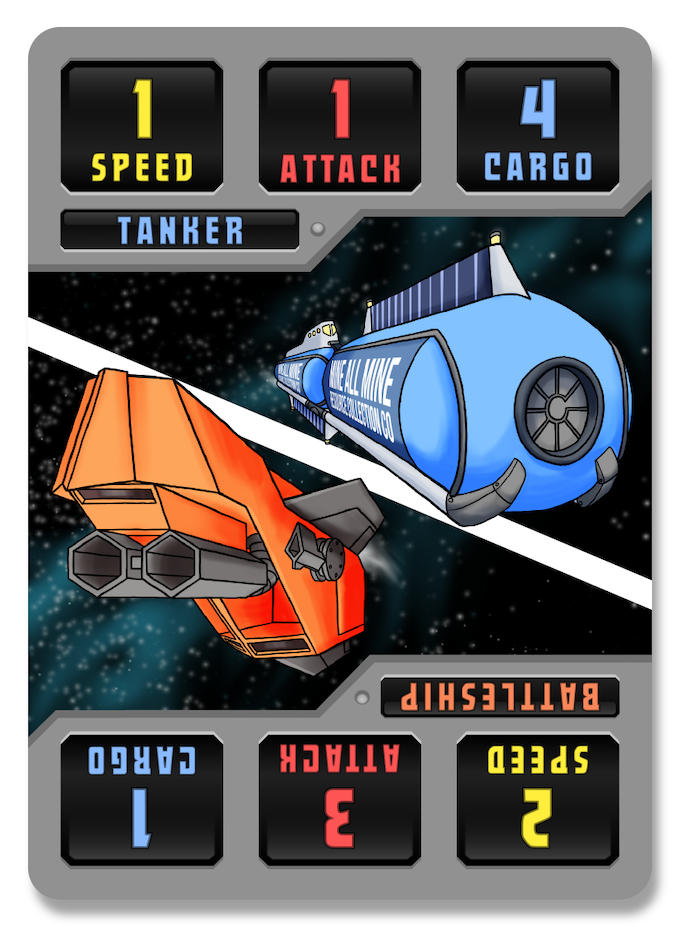 One of the ship cards from the game.