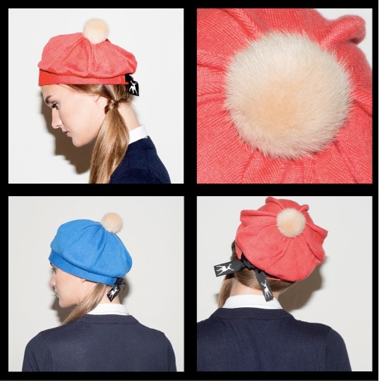 1. Beret Mini Pom. Click to see available hat colours. All pom-poms in camel (top right).