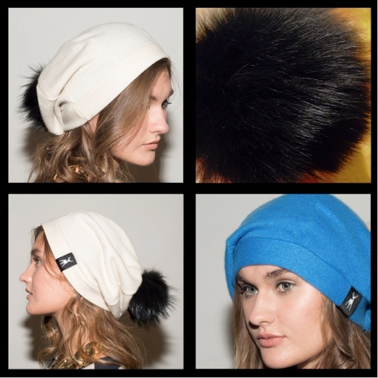 3. Slouchy Sheepy Beanie. Click to see available hat colours. All pom-poms in black shearling (top right).
