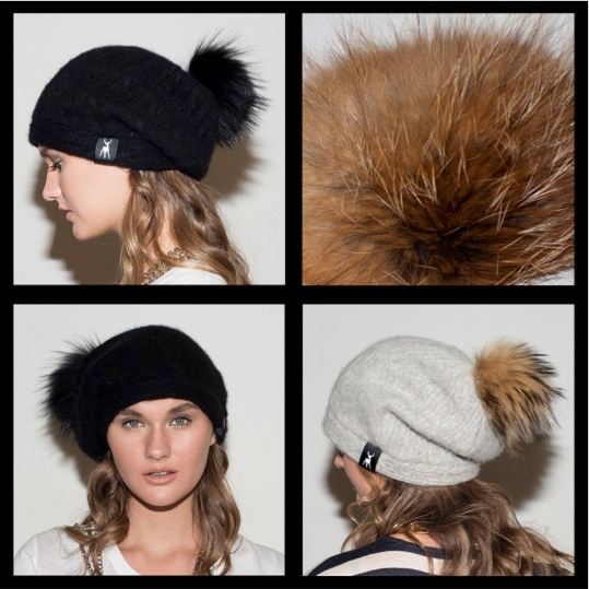 4. Slouchy Foxy Beanie. Click to see available hat colours. In pom-poms in Swiss Red Fox (top right).
