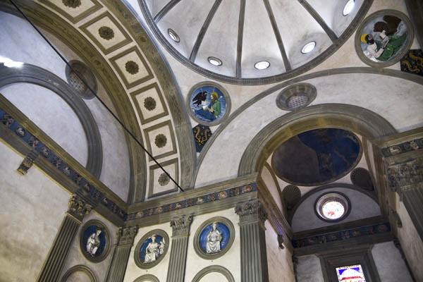 Interior of the Pazzi Chapel