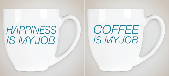 Mug designs for the happiness gift bag.