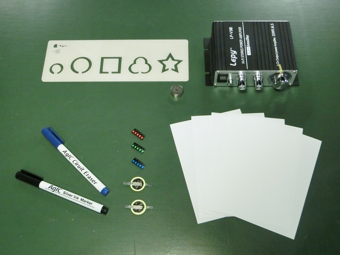 Contents of Paper Speaker Kit