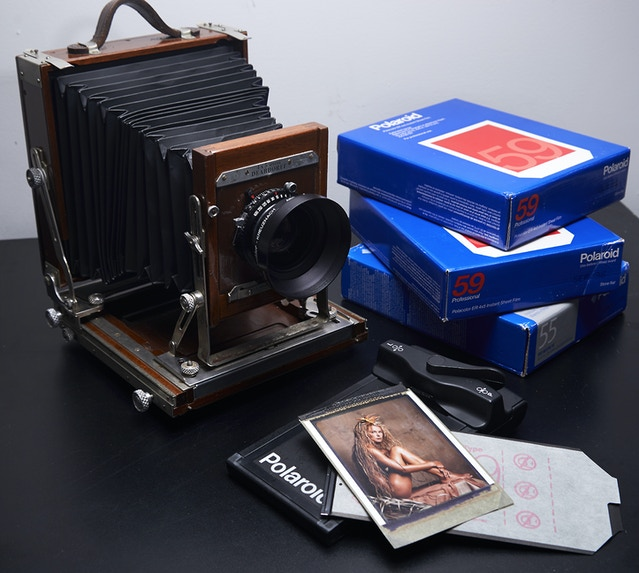 Organic Portraits / A Photo Book of Polaroid & Film Images by John F