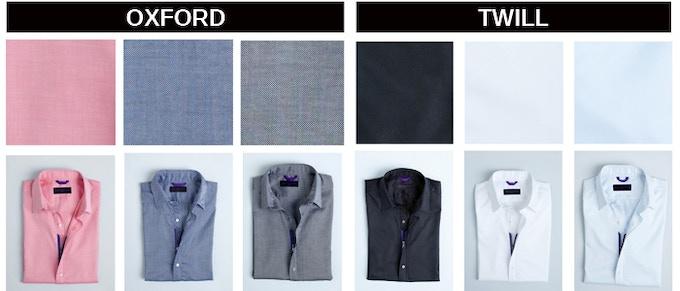 Fabrics in order:  Red Royal  -  Indigo Blue  -  Metal Gray     -     Black Twill    -    White Twill    -    Lt. Blue Twill