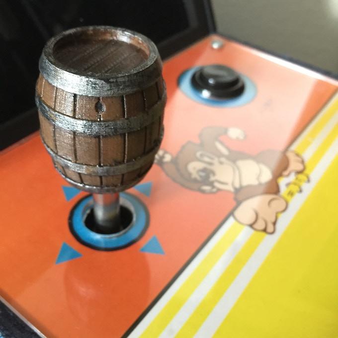 Donkey Kong themed joystick ball top, so many possibilities!