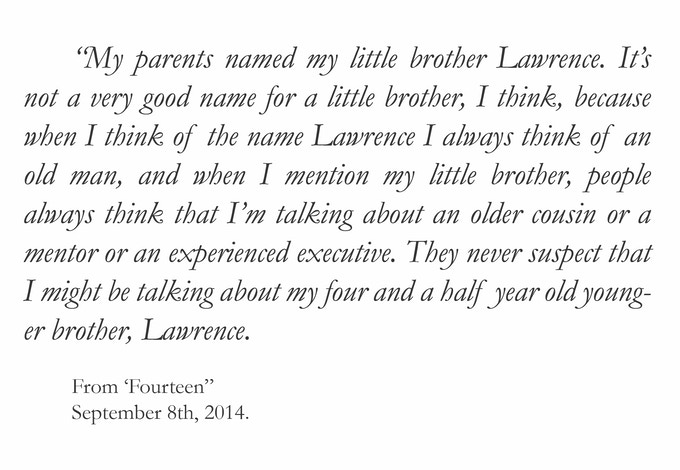 Click here to read the rest of 'Fourteen' and other stories!