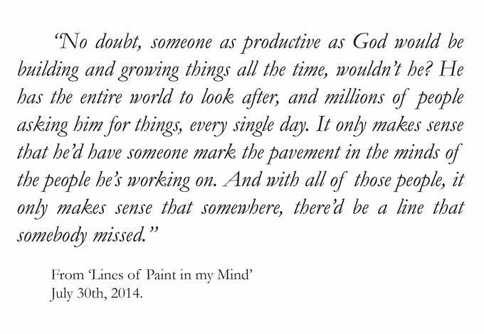 Click here to read the rest of 'Lines of Paint in my Mind' and other stories!