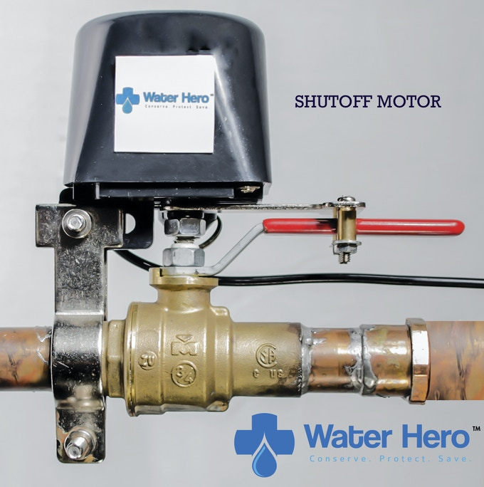 SHUTOFF MOTOR easily clamps over ball valve shutoff.