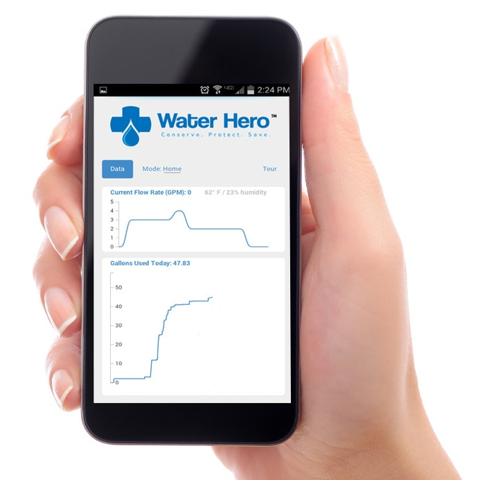 Water Hero App water usage data