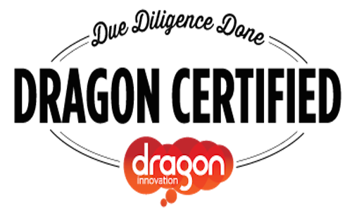 """""""This product has been thoroughly reviewed by the team at Dragon Innovation to ensure a sound design and manufacturing plan."""" Click Image to view certificate."""