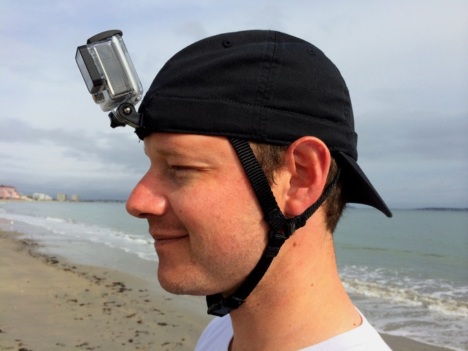 The adjustable chin straps are fastened with a plastic snap buckle