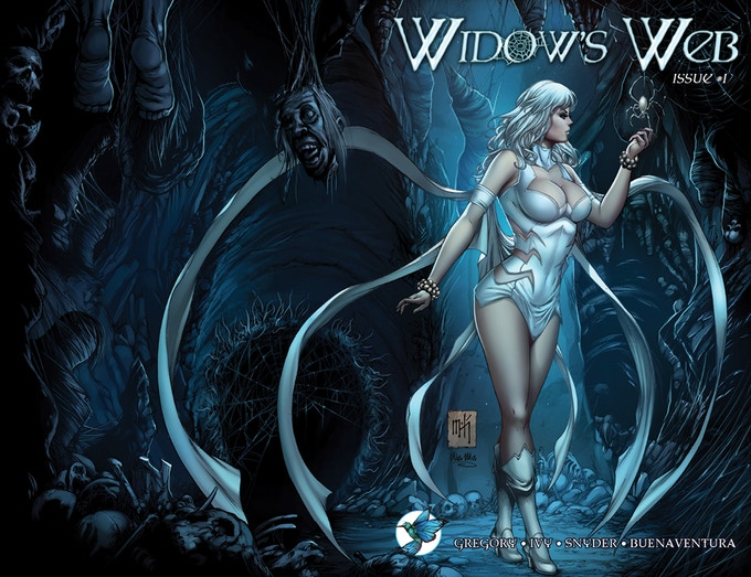 WIDOW'S WEB #1 Standard Edition wrap around Cover B by Mike Krome and Ula Mos