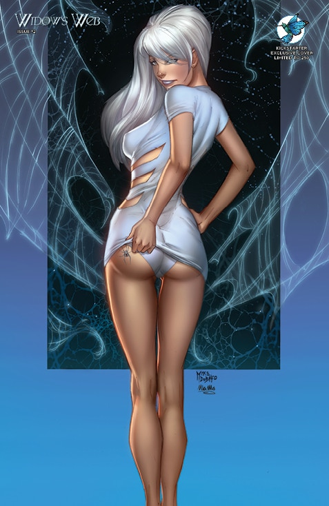 "WIDOW'S WEB #2 ""PEEK-A-BOO"" SPECIES KICKSTARTER EXCLUSIVE COVER by Mike Debalfo and Ula Mos (limited to 250 copies)"