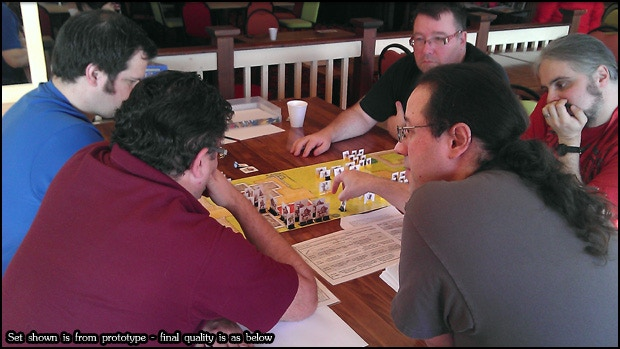 Gamers at Indiecon 2012 play the prototype of Lone Wolf - The Board Game