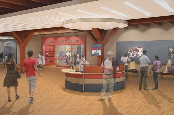 National Bobblehead Hall of Fame and Museum Lobby Rendering