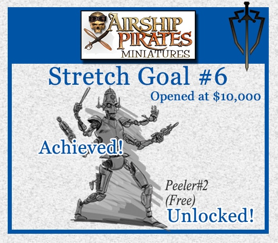 Stretch Goal #6 which opened at $10,000.00