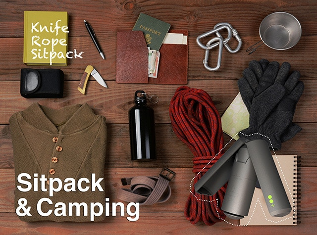 Use Sitpack as a camping chair