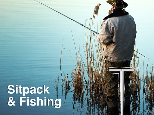 Use Sitpack as a fishing chair