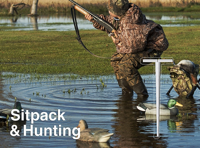 Use Sitpack as a hunting chair