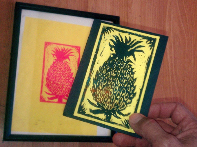 Are you a fan of mail art, or for that matter, of art at all? Here's your chance to own an original block print form the talented Dawn Thomas! These beautiful prints will arrive via the USPS and are suitable for framing.